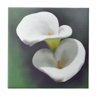 Weiße Calla-Lilien-Blumen Fliese