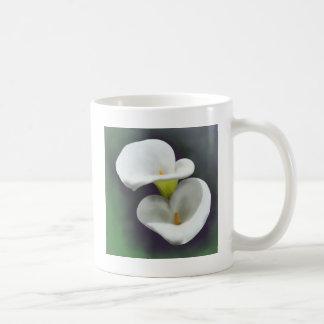 Weiße Calla-Lilien-Blumen Kaffeetasse