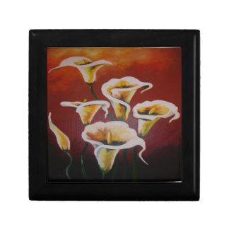 Weiße Calla-Lilien Erinnerungskiste