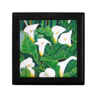 Weiße Calla-Lilien Geschenkbox