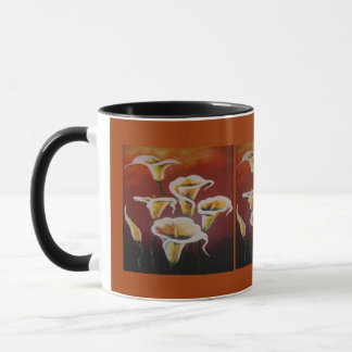 Weiße Calla-Lilien Tasse