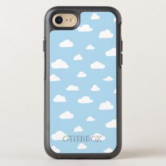Weiße Cartoon-Wolken auf blauem Hintergrund-Muster OtterBox Symmetry iPhone 8/7 Hülle