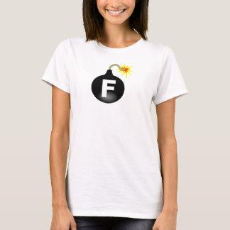 Weiße das f-Bombe der Frauen T-Shirt