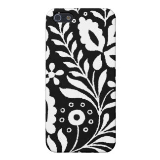 Weiße dekorative Spitze auf schwarzem iPhone 4 Hülle Fürs iPhone 5
