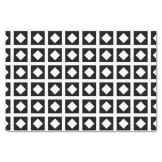 Weiße Diamanten und schwarze Quadrate Seidenpapier