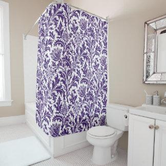Weiße Distel-Gewohnheits-Farbe William Morriss Duschvorhang