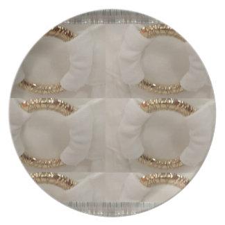 Weiße diy Mode-Accessoire das Gold n addieren Flacher Teller