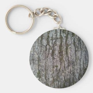 Weiße Eichen-Barke Schlüsselanhänger