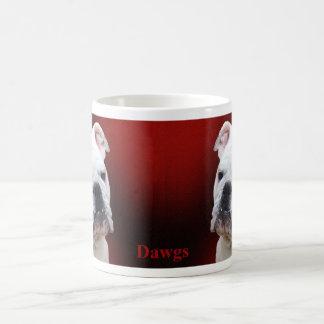 Weiße englische Bulldogge Kaffeetasse