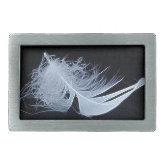 Weiße Feder - himmlisch von Natur aus Rechteckige Gürtelschnallen
