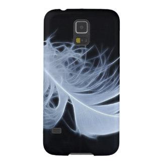 Weiße Feder - himmlisch von Natur aus Samsung S5 Hülle