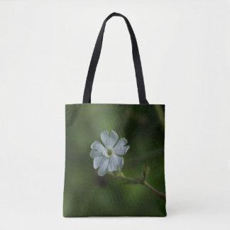 Weiße Feuernelken-Wildblume-BlumenTaschen-Tasche Tasche