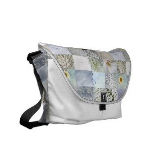 Weiße Foto-Steppdecken-Collagen-Tasche Kurier Taschen