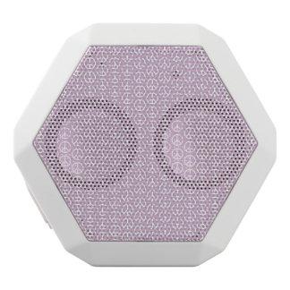 Weiße Friedenszeichen auf Pastellflieder Weiße Bluetooth Lautsprecher