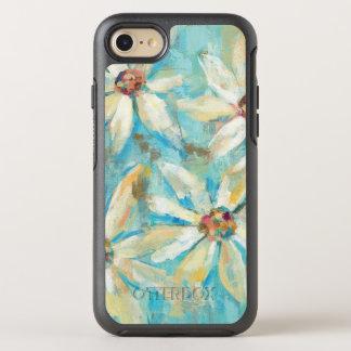 Weiße Gänseblümchen auf Blau OtterBox Symmetry iPhone 8/7 Hülle