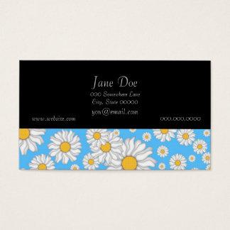 Weiße Gänseblümchen auf hellem blauem Hintergrund Visitenkarte