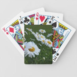 weiße Gänseblümchen Bicycle Spielkarten