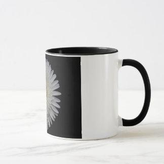 Weiße Gerbera-Blumen-Tasse Tasse