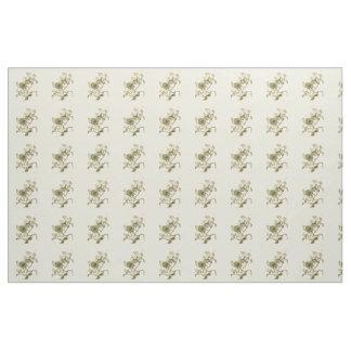 Weiße Hartriegel-Blumen-Illustration Stoff