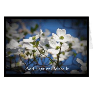 Weiße Hartriegel-Blumenkarte Karte