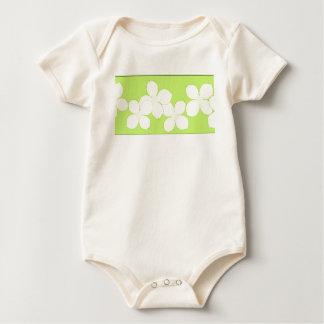 Weiße Hartriegel-Blüte Baby Strampler