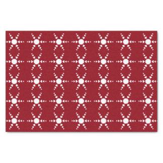 Weiße Herz-Schneeflocke-rotes Seidenpapier