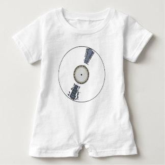 Weiße Hintergrund-Aufzeichnung Baby Strampler