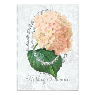 Weiße Hochzeithydrangea-Hochzeits-Einladungs-Karte Karte