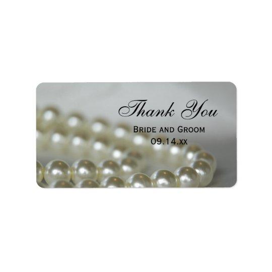 Weiße Hochzeits-Perlen danken Ihnen, Umbauten zu Adressetikett