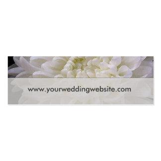 Weiße Hochzeitswebsitekarten Visitenkarte