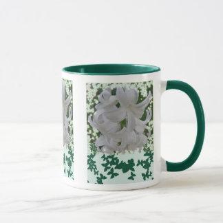 Weiße Hyazinthen u. Schmetterlings-Tasse Tasse