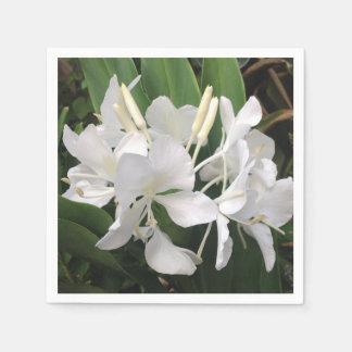 Weiße Ingwer-Lilie Papierservietten