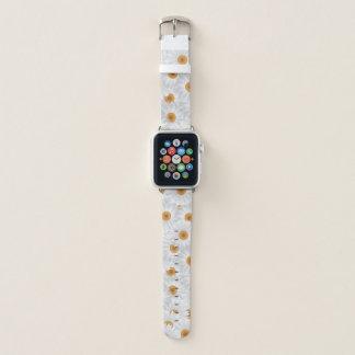 Weiße Kamillen-Blumen Apple Watch Armband
