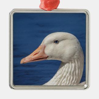 Weiße kanadische Gans Silbernes Ornament