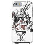Weiße Kaninchen der Herzen - Alice im Wunderland Tough iPhone 6 Hülle