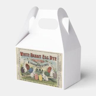 Weiße Kaninchen-Ei-Färbung Geschenkschachtel