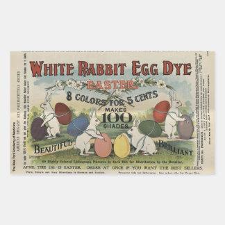 Weiße Kaninchen-Ei-Färbung Rechteckiger Aufkleber
