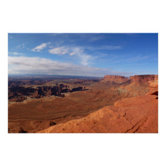 Weiße Kante übersehen an Canyonlands Nationalpark Poster