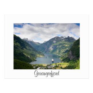 Weiße Karte Geirangerfjord Ansicht Grenz