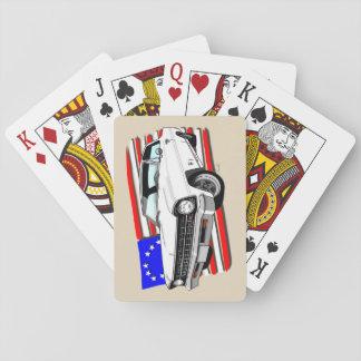 Weiße Karten des Nova-1966-1967 Spielkarten
