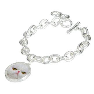 Weiße Katze Armband