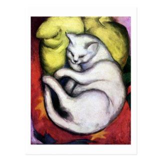 Weiße Katze, Franz Marc Postkarte