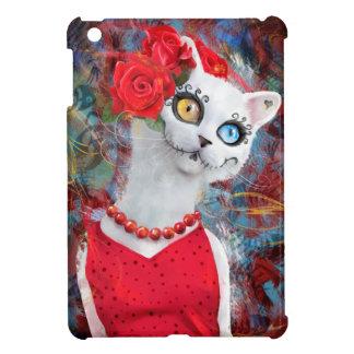 Weiße Katze, Tag der Toten iPad Mini Hülle