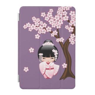 Weiße Kimono Kokeshi Puppe - niedliches iPad Mini Hülle