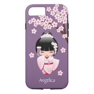 Weiße Kimono Kokeshi Puppe - niedliches iPhone 8/7 Hülle