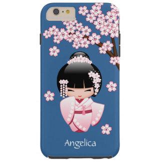 Weiße Kimono Kokeshi Puppe - niedliches Tough iPhone 6 Plus Hülle