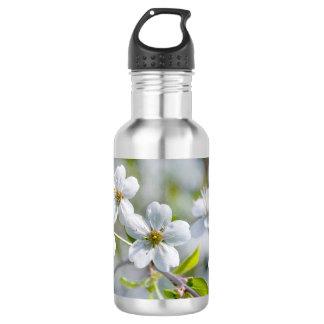 Weiße KirschBlume Trinkflasche