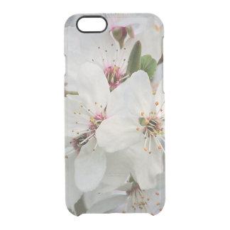 Weiße Kirschblüte Durchsichtige iPhone 6/6S Hülle