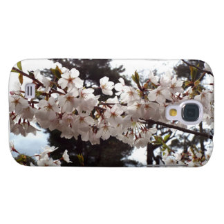 Weiße Kirschblütenniederlassung Samsung rufen Fall Galaxy S4 Hülle