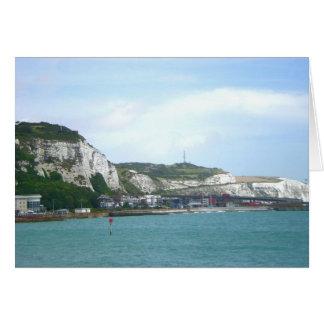 Weiße Klippen von Dover, England Karte